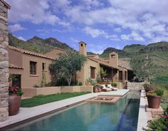 Southwest Style, Spanish Colonial, Mansions, Santa Fe, House Styles, Design, Projects, Home Decor, Southwestern Style