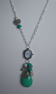 Turquoise Stone Bauble Watch Necklace by KananiKouture only $23.00