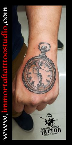 #Tattoos #Ink #inked #colour #Pocket_watch #Indore at Immortal Creative Tattoo Studio #Indore #Dina_Karan ur views, Comments and shares would be Appreciated — at Immortal Creative Tattoo Studio & Academy!!