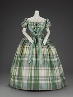 "Four-part evening dress, MFA Boston, c.1860  The cherry on top! This is the exact dress I thought of when I heard ""plain ballgown̶..."
