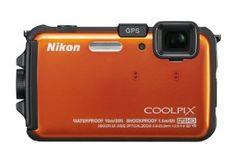 Nikon COOLPIX AW100 16 MP CMOS Waterproof Digital Camera with GPS and Full HD 1080p Video (Orange): Camera