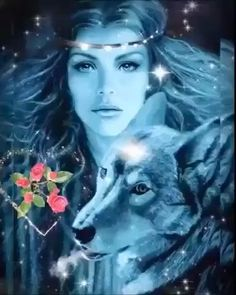 Wolf Images, Wolf Pictures, Angel Pictures, Beautiful Wolves, Beautiful Gif, Animated Love Images, Images Gif, Native American Music, Native American Beauty