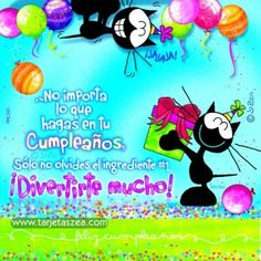 gato Morfeo dando un regalo de cumpleaños © ZEA www.tarjetaszea.com English Memes, Happy B Day, Looney Tunes, Minnie Mouse, Disney Characters, Fictional Characters, Birthdays, Happy Birthday, Crafty