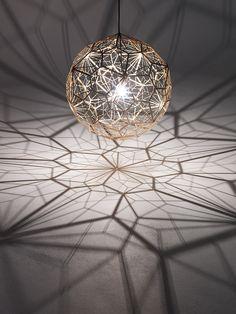 Lamp with matrix of shadows. So beautiful!!