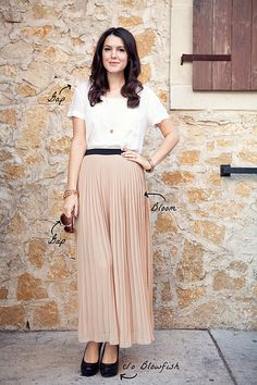 kendi every day = always amazing *pleated long skirt ica, go wear yours NOW