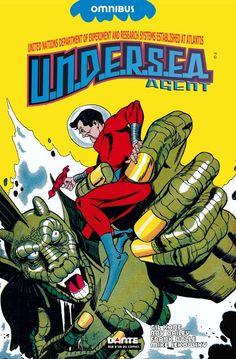 Gil Kane& Undersea Agent by Steve Skeates Hardback Book New Comic Book Covers, Comic Books Art, Book Art, Penguin Random House, Silver Age, Album, Golden Age, Thunder, Cover Art
