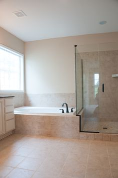 The Master bathroom of the Westmont II floor plan by Ball Homes.