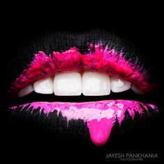 lips creative colored