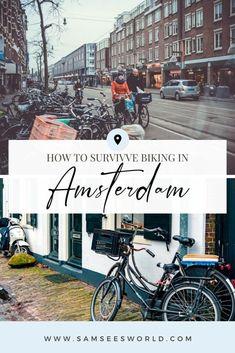 Want to go biking in Amsterdam? Here are 15 tips to make biking and feeling like a Dutch resident easy! #Amsterdam Amsterdam Weekend, Amsterdam Winter, Amsterdam Things To Do In, Amsterdam Itinerary, Amsterdam City Guide, Amsterdam Travel, Biking In The Rain, Dutch People, See World