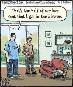 That's the half of our love seat that I got in the #divorce .