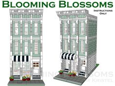 Blooming Blossoms Custom Lego Modular Building Instructions Only   eBay