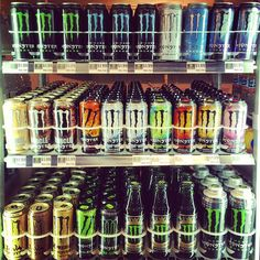 Very nice Selection of Monster Energy with the new Muscle Monster and Rehab Pink Lemonade
