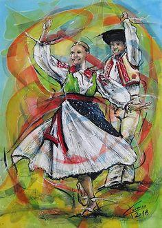 pucik / Jarná tancovačka na Liptove Color Pencil Art, European Countries, Eastern Europe, Czech Republic, Colored Pencils, Poland, Folk Art, Celtic, Graffiti