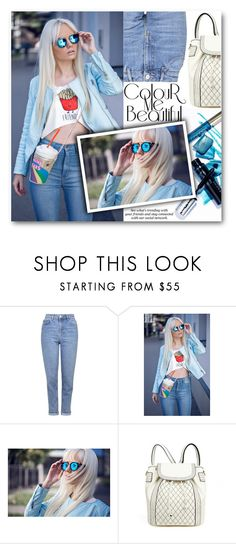"""""""Blue dream"""" by stylemoi-offical ❤ liked on Polyvore featuring Topshop, Erdem and stylemoi"""