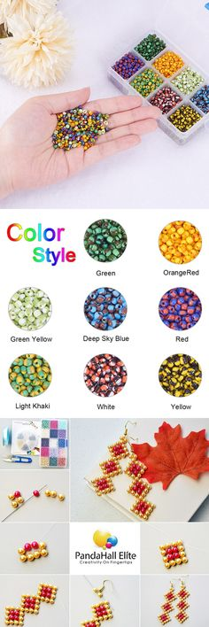 PandaHall Elite 24 Strands 12 Mixed color 28 Long Iron Ball Bead Chains with Iron Ball Chain Connectors For Jewelry Findings Keychain Making