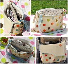 diaper bag  by juspan,   Amy Butler pattern with alterations
