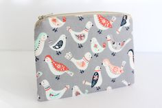 Medium Pouch Coin Purse Cosmetic Bag Makeup Pouch by AgnesPurses