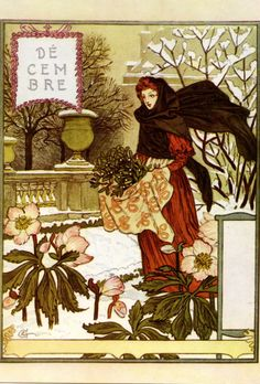 """turnofthecentury: """"La Belle Jardiniere – Décembre ,1896 by Eugene Grasset [thanks again to Bob Young;] """""""