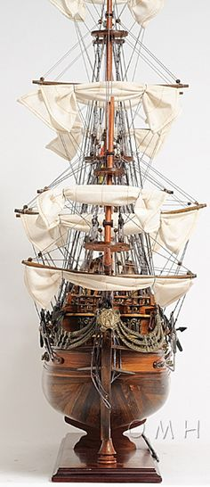 Often the rigging on theses models is CLOSE to authentic but as in all other aspects of these models, the teams that build them cut EVERY corner to get the ship out of the studio as fast as possible.