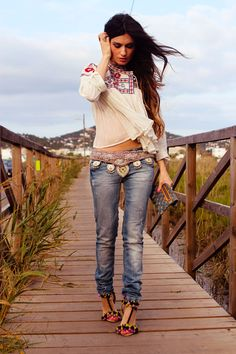 Bohemian Modern Hippie, Boho Chic Fashion & Style | CLICK for more http://www.pinterest.com/happygolicky/boho-chic-fashion-bohemian-jewelry-boho-wrap-brace/