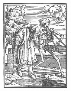from the Holbein danse macabre