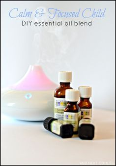 DIY custom essential oil blend that will keep your kids calm and focused - great for kids with autism too!
