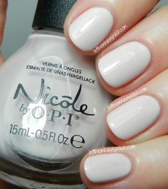 Nicole by O.P.I Sweet Surrender- a yummy, squishy, off- White crelly. This shade has a great formula, does well in Three thin coats