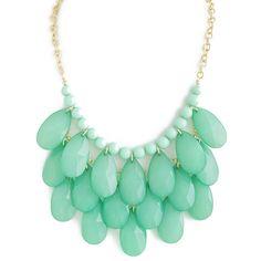 Mint Cascade Necklace  http://www.preebrulee.com/collections/all/products/mint-cascade-necklace#