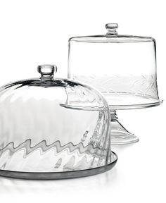 [MS] Glass Cake Stand and Dome