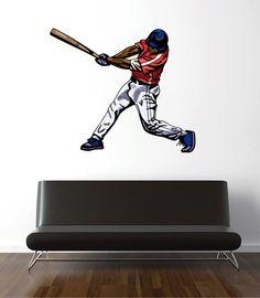 cik691 Full Color Wall decal ball sport baseball bit living room bedroom