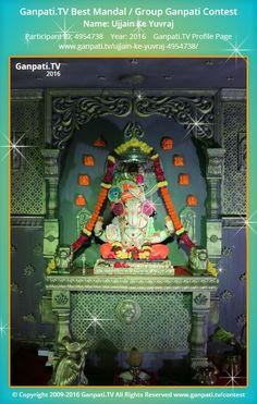Ujjain Ke Yuvraj Home Ganpati 2016 Decoration Pictures, Decorating With Pictures, Ganpati Picture, Ganpati Festival, Ganapati Decoration, Ganesha Pictures, Radha Krishna Images, Uncut Diamond, Festival Decorations
