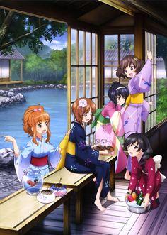 Miho,Hana,Yukari, Mako & Takebe Anime:Girls Und Panzer