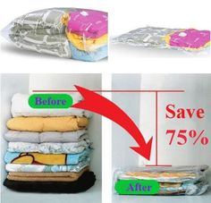 Vacuum seal a blanket, pillow and towel for each family member. They shrink so small that they can easily be stored in a survival kit.