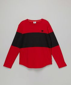 Love this Deep Red Bold Color Block Tee - Boys on #zulily! #zulilyfinds