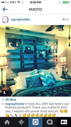 My king size headboard. So in love with it!