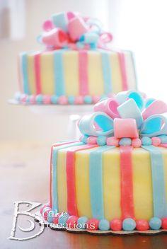 Baby shower cake.gender reveal cake