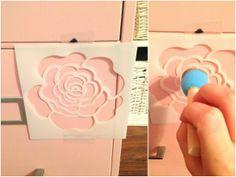 file cabinet makeover stencil - Google Search