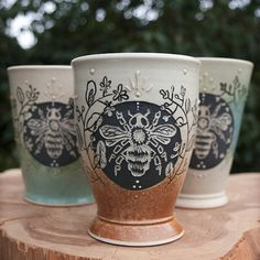 Ceramicist/Potter/Mud Lover in Springfield, MO by HandToEarthCeramics Browse unique items from HandToEarthCeramics on Etsy, a global marketplace of handmade, vintage and creative goods. Pottery Mugs, Ceramic Pottery, Ceramic Art, Ceramic Cups, The Potter's Wheel, Sgraffito, Cute Mugs, Bees Knees, Art Plastique