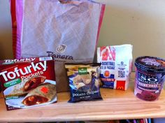 Tofurky and So Delicious carry-out for our food allergy boy, so he can join the family fun.