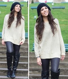 H&M Hat, Causewaymall Sweater, Forever 21 Boots