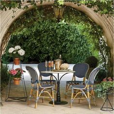 Looking to create a Parisian feel for our outdoor dining.