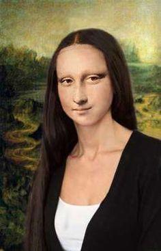 Mona Lisa with long Hair