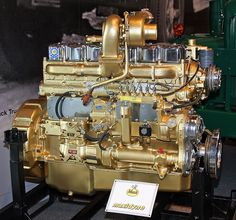 "Mack Trucks Maxidyne Engine | Flickr A ""real"" american designed and engineered mack engine a true gold piece!"