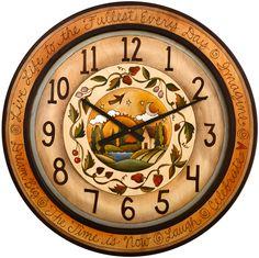 Sticks Round Wall Clock by Sarah Grant