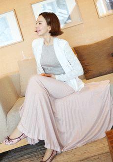 Pleated Long Skirt  SFSELFAA0013341