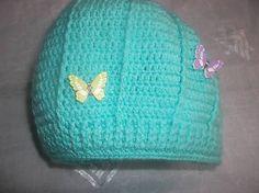 MelinetDecorCrochet / Chlapčenská tyrkysová čiapka