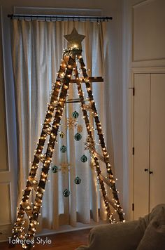Ladder Christmas Tree...Click on the Link for More Pics MY GIRL FRIENDS LOVED IT----ANNUAL GIRLS' CHRISTMAS PARTY----1995