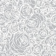 Vector of Seamless pattern with flowers roses, vector floral illustration in vintage style