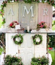 door backdrop wedding