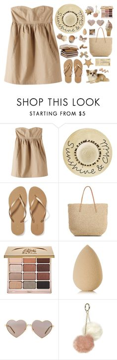 """""""Sunshine & Chill"""" by kwonrena ❤ liked on Polyvore featuring Organic by John Patrick, Betsey Johnson, Old Navy, Stila, beautyblender, Band of Outsiders, Wildfox, Dorothy Perkins and Art Classics"""